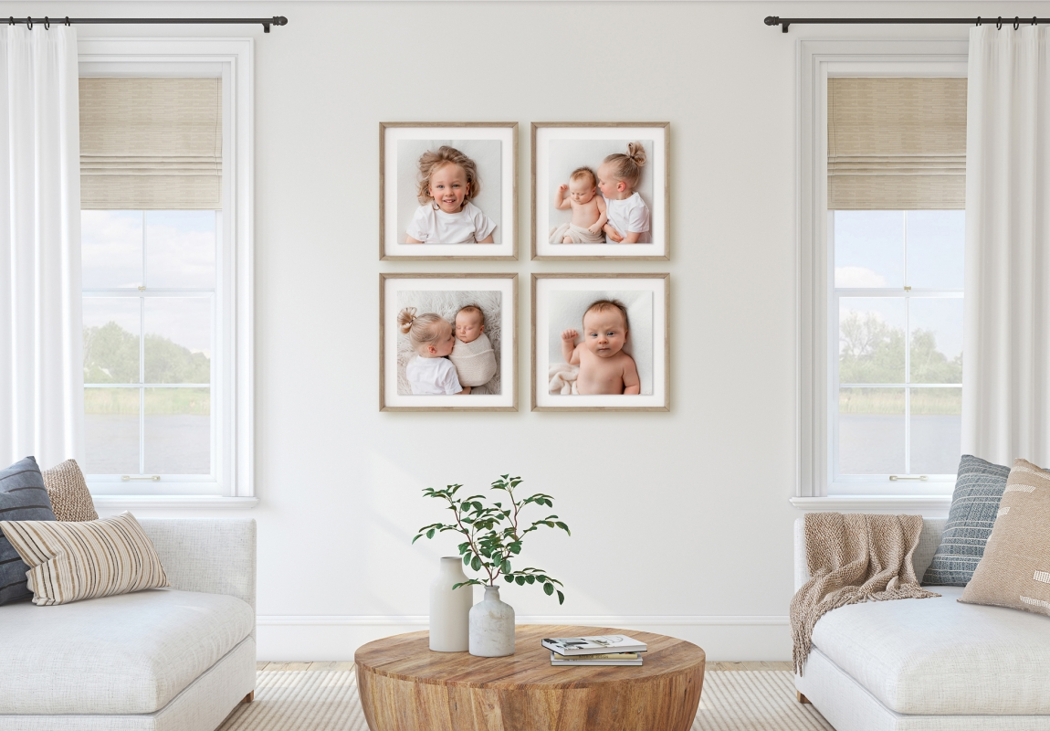 """Cluster of Four 20x20"""" Frames"""
